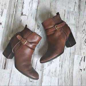 TOMMY HILFIGER HAYLEY ANKLE BOOTS BROWN 6.5
